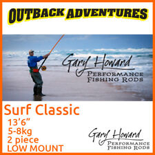 "GARY HOWARD SURF CLASSIC 13'6"" FISHING ROD 13FT6 5-8KG 2 PIECE LOW MOUNT"