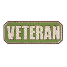 3D PVC Veteran Military Army Tactical Airsoft Gear Morale Patch Badge Green