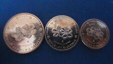 Medaille Euro Proben Specimen Slovenien 1 + 2 + 5 Cent 2003 in unc. (K96)