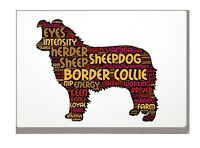 Border Collie Art Print Word Art A4 A3 Mothers Day Gift Personalised Option