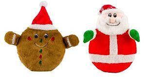 Good Boy Disc O Squeak  Christmas Soft Squeaky Flyer Disc Dog Toy Xmas Gift