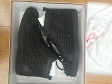 Christian Louboutin Louis Calf Spikes Black - Size UK 10