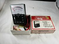 Vintage Radio Shack Micronta 1000 OHMS/Volt MULTITESTER Model 22-027A In Box