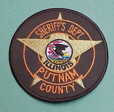 PUTNAM COUNTY ILLINOIS  IL  SHERIFF /  POLICE PATCH   FREE SHIPPING!!!