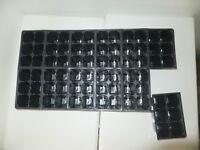 Set of 3 SHEETS 1206 Tray Inserts Packs New Plastic (216 cells; fills 3 flats)