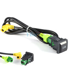 Car USB Switch Cable Harness AP For VW GOLF JETTA SCIROCCO RCD510 RNS315 MK5 MK6