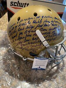 Rudy Ruettiger Signed Full Movie Quote Full Size Notre Dame Helmet BECKETT COA 1
