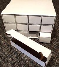 2 NEW Tarjetas Casa con 24 NEW 800 CAJAS archivo cartón Almacenamiento Artículos