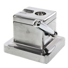 Stainless Steel Cast Body 2 in 1 Table Top Guillotine & Cuban Cut Cigar Cutter