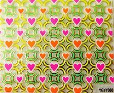 Accessoire ongles,nail art,  Sticker autocollant , coeurs rose et orange