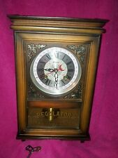 Alaron-31-Day-Regulator-Wall-Clock-w-Pendulum