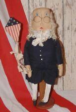 Primitive Folk Art Americana Benjamin Franklin Doll Pattern