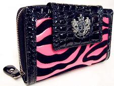 Hot Pink LYDC Boxed Womens Animal Print Croc Purse Ladies Wallet Bags SALE