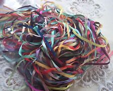 EMBROIDERY RIBBON 100 % SILK 4MM  WIDE  36 YD ASSORTM.