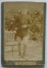 WWI Soldier Smoking a Cigarette - Stars on Collar