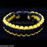 Yellow & Black - Paracord Emergency Survival Rope Bracelet - Made in the USA