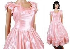80s Prom Dress XS S Vintage Shiny Pink Southern Belle Princess Costume Gown