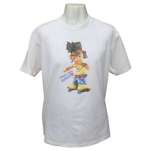 Mens Manga Cartoon Retro Skate Anime Japanese Retro Skateboard Tokyo T-shirt XL