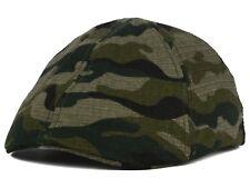 MEN'S CAMO RIPSTOP 100% COTTON STRETCH FLEXFIT GREEN DRIVER HAT CAP Large/XL