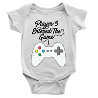 Player 3 Entered The Game Babygrow Video Gaming 3rd Baby Son Gift Present