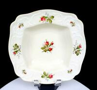 "ROSENTHAL GERMANY CLASSIC MOSS ROSE SANSSOUCCI 9 1/2"" SQUARE VEGETABLE BOWL 1961"
