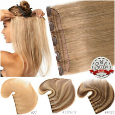THICK One Piece 20CM-65CM Clip In Brazilian Real 100% Remy Human Hair Extensions