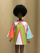 Barbie Mod look Cut n Sew dress. made as shown DOLL NOT INCLUDED ~ OUTFIT ONLY