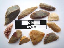 11 x Neolithic Tools  Scrapers, Saharan Flint Artifacts- 4000BC (0918)