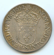 Louis XIV (1643-1715) Ecu à la mèche longue 1652 S Troyes
