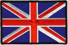 "(A10) UNITED KINGDOM FLAG 3"" x 2"" iron on patch (5172) Biker UK"