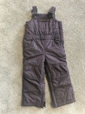 Toddler 3 Baby Gap Snowsuit Lined Winter Snow Pants Bibs Brown Unisex