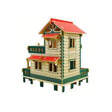 3D Wooden Puzzle Fun Toy House Model Building Construction Kit Jigsaw JJ