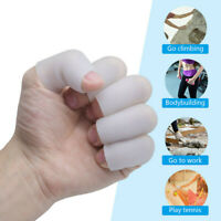 4x Soft Silicone Finger Toe Care Sleeves Separators Protector Prevent Injuries