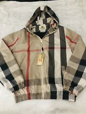 New Burberry Brit Checkered Windbreaker Jacket Med/Large