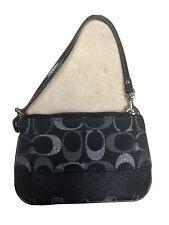 coach leather wallet wristlet clutch