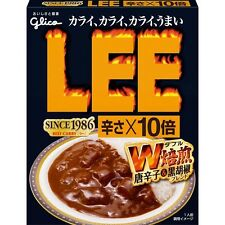 GLICO JAPANESE INSTANT FOOD LEE BEEF CURRY HOTx10 (200g x 10) BEEF VERY HOT