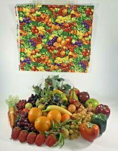 Artificial Fruit Vegetable Lot Decoration Prop Faux Home Décor Lot of 30+ Pieces