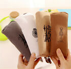 Women Men Paris Canvas Coin Bag Case Key Card Zipper Pouch Purse Wallet Gift