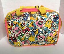 Vtg 90s Kids LOONEY TUNES Book Bag Shoulder School Messenger Bag Tweetie Bugs
