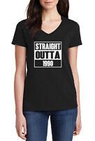 Ladies V-neck Straight Outta 1990 T-Shirt 30 Years 30th Birthday Gift Tee Shirt