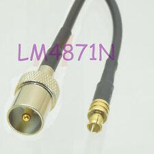 "MCX plug to IEC male 5"" RG174 Cable Adaptor for Antenna USB DVB-T DVBT TV Tuner"