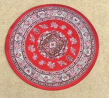 1:12 Scale Red Round Woven Turkish Rug Tumdee Dolls House Miniature Carpet 1649