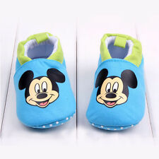 Baby Boys Girls Crib Shoes Infant Cartoon Soft Sole Indoor Slippers 0-18 Months
