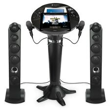 "New Singing Machine Pedestal Karaoke System 7"" LCD Color Screen Tower Speakers"