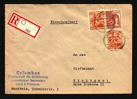 Germany 1948 Cover w/ Mi# 951 (x2) and 956 - Z14425
