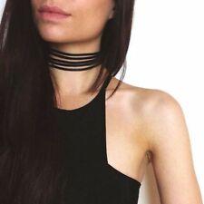 Charm Necklace Choker Women Handmade Black Velvet Multilayer Gothic Collar