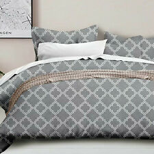 Luxury Microfiber 5Pcs King Bedding Comforter Set Bed In A Bag,Geometric Gray