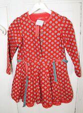 OILLILY Mädchen Kleid Blumen Rüschen Rot Gr. 92  2 Jahre (W47)