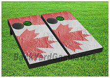 VINYL WRAPS Cornhole Boards DECALS Canada Flag BagToss Game Stickers 355