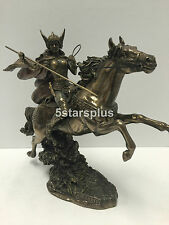 Norse God Valkyrie On Horse Mythology Statue Figures Sculpture FAST SHIPPING